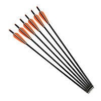 20in Archery Mix Carbon Arrows Crossbow Bolts Target Hunting Moon Nock Pack of 6