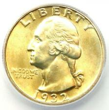 1932-D Washington Quarter 25C Coin - Certified ICG MS63 (BU UNC) - $1,380 Value!