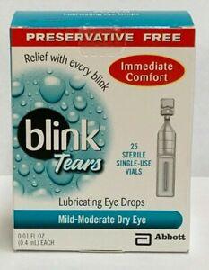 Blink Tears Lubricating Eye Drops, Single Use - 25 Ct