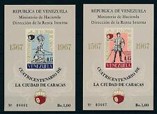 [19741] Venezuela 1967 Founding of Caracas 2 Souvenir Sheets MNH