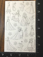 Frozen By Disney, Anna, Elsa And Olaf, One Sheet Stickers Black & White #Gua378