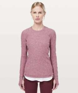 NEW LULULEMON Runderful Long Sleeve Size 4 Misty Merlot Red Pink Rulu NWOT
