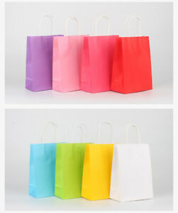 10PCS £3.5 Paper Party Carrier Bags Gift bags  Loot Bags Wedding Favour Bags