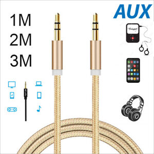 Aux Cable Audio Lead 3.5mm Jack to Jack Stereo Male for Car PC Phone 1m to 3m