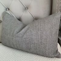 "Designer Cushion Cover 12""x20"" John Lewis & Partners Fabric ,Textured Twill Grey"