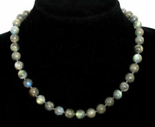 New 8mm Hot Natural Gemstone Necklace Labradorite Round Beads 18''