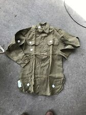 WW2 US Army Wool Shirt With Cutters Tags Size 14.5x33