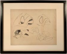Listed Artist Ralston Crawford (1906-1978) Pen & Ink Drawing w/ Estate Stamp