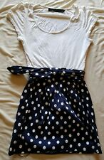 Womens White Polka Dot Dress