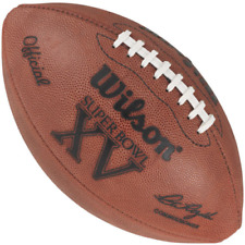 SUPER BOWL 15 XV - Wilson Official Game Football (EAGLES RAIDERS)