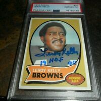 1970 Topps Leroy Kelly Signed Auto Football Card #20 CLEVELAND Brown HOF PSA/DNA