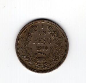CHILE 1 PESO 1940 ANDEAN CONDOR O. Roty Copper Nickel L1