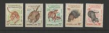 Royaume du Laos 5 timbres non oblitérés 1965 poste Aérienne animaux /T2779