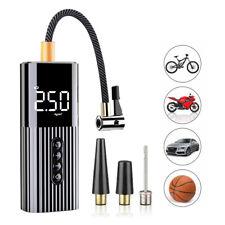 Mini Portable Car Auto Bicycle Air Pump Compressor LCD Digital Tyre Pump 60W 12V