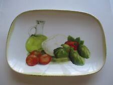 CERAMISIA PLATE MADE IN ITALY DEEP DISH VINTAGE ITALIAN TRAY 10 x 7 x 2 INCHES