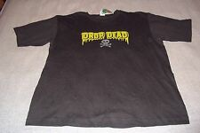 Drop Dead Skull and Cross Bones T-Shirt Mens XL