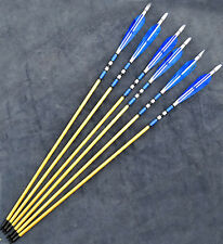 "Top Sale 6pc Wooden European War-style Turkeys Feather Arrow For Longbow Bow 31"""