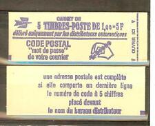 CARNET TYPE MARIANNE DE BEQUET 1 FRANC N° 1892 C1  **  COTE € 13