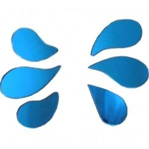 Six Blue Tinted Splashes for PUDDLE / SPLASH Mirrors