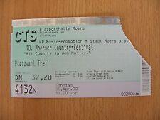 >>>TRUCK STOP Konzertkarte 10. Moerser Country-Festival 30.04.2000<<<