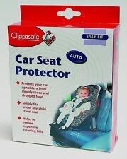 Clippasafe lugar bajo asiento de coche Protector, De Pvc Transparente de fácil limpieza cubierta