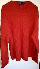 Polo Ralph Lauren Thick Cashmere Cable Knit Sweater, Salmon, XXL
