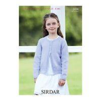 "Sirdar DK Knitting Pattern 4005 Sweaters Tunic for Children 24/""-36/"" 4-16yrs"