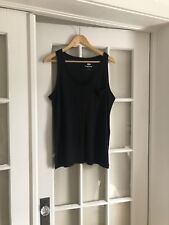Old Navy Linen Blend Boyfriend Style Tank Top Medium M New Without Tags Black