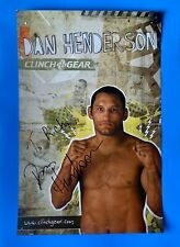 "Dan Henderson Signed Inscribed Poster UFC MMA Measures 11""X 17"""