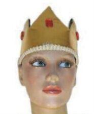 Medieval Gold & Black Kings Crown Royalty Hat Fancy Dress Adult NEW P6688
