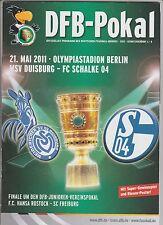 Orig.PRG   DFB Pokal   2010/11   FINALE   MSV DUISBURG - FC SCHALKE 04 !! SELTEN