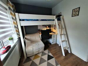 Warwick High Sleeper Bed With Futon - Silk White