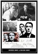 026.The Kray Twins Reggie & Ronnie Kray Signed Reproduction Print a4