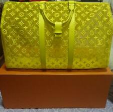 Louis Vuitton Virgil Abloh Keepall 50 Travel Bag M55380 Yellow Monogram Auth New