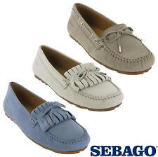 Sebago Harper Tie Womens Low Loafers Slip On Casual Nubuck Flat Shoes UK4 - 8