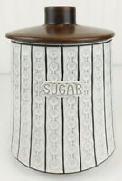 Vintage Mid Century Modern CERAMANO Pottery Sugar Canister West Germany Ceramic