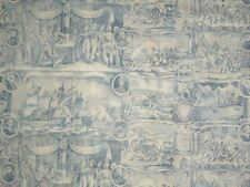 Cyrus Clark FOUNDING FATHERS COBALT President Constitution Drapery Sewing Fabric