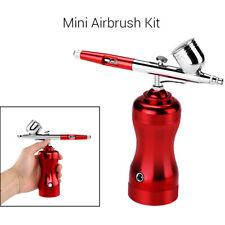 Mini Airbrush Kit Compressor Gun Cordless Needle Spray For Makeup Craft Tattoo