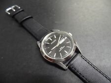 Pulsar Black Dial leather strap Day/Date Mens Quartz Watch VJ33-X004