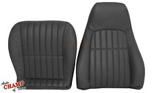 2000-2002 Chevy Camaro V8 V6-Driver Bottom & Lean Back Leather Seat Covers Black