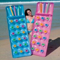 Inflatable Pocket Fashion Designer Lounger Lilo Float Swimming Pool Air Bed Mat