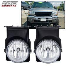 For 03-06 Gmc Sierra 1500 2500 3500 Pickup Bumper Fog Lights Lamps Left+Right