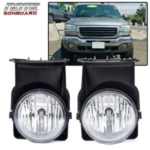 For 03-06 GMC Sierra 1500 2500 3500 Pickup Bumper Fog Lights Lamps Left+Right