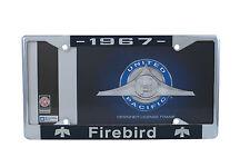 1967 Pontiac Firebird Chrome License Plate Frame with 4 Hole Mount