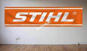 Stihl Banner Flag 2x8ft Chainsaw Chain Saws Tools Equipment Garage Flag