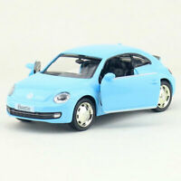 1:36 VW Beetle 2012 Model Car Alloy Diecast Toy Vehicle Pull Back Blue Kids Gift