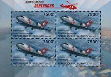CANADAIR CL-600-2816 CHALLENGER 604 Swiss Air Ambulance Aircraft Stamp Sheet