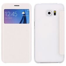 Smartcover Window Bianco per Samsung Galaxy S6 Edge Plus G928 f Custodia Cover