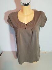 s. OLIVER  Damen Shirt  T-Shirt  Gr. 36  taupe  Kurzarm  Baumwolle  WIE NEU