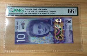 2018 Canada $10 P-BC-77a PMG 66 EPQ Gem UNC